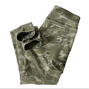 Justice Pants Pull On Cargo Camo Green Youth 12